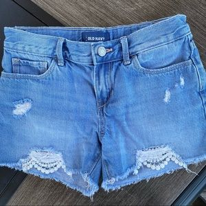 Old Navy Jean Shorts Distressed Girls Size 12